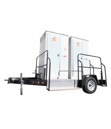 2 units vip restroom trailer for rental