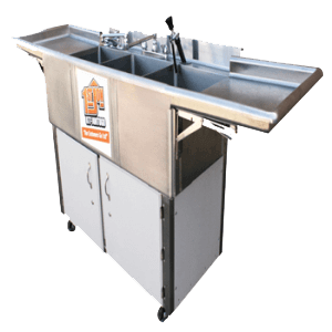 3 Compartment Hot Sink Rental