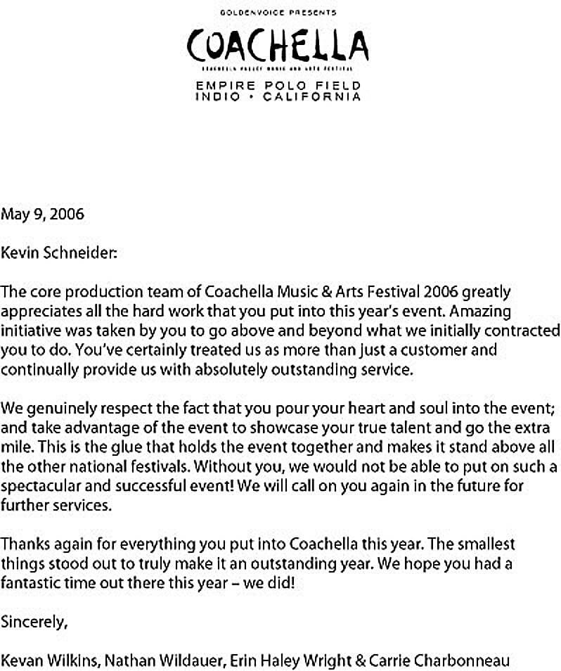 Coachella Testimonial for 1stJon