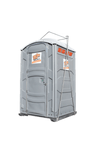 Standard portable toilet with a lift hook rental