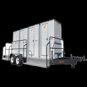 4 units vip restroom trailer for rental